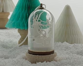 Miniature Santa's Sleigh Dome Decoration