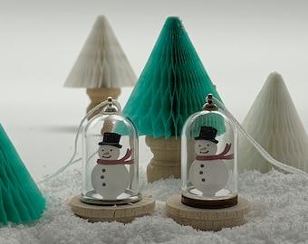 Miniature Snowman Dome Decoration