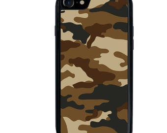 Camo Phone Case, Camouflage, Military, Hunting, iPhone 5 5s 5c 6 6s 6+ 6s+ SE 7 7+ 8 8+ X Galaxy S7 S8 S8+, Plastic Rubber Tough, Edge, Plus