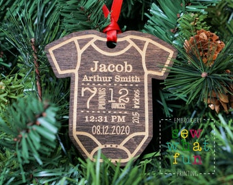New Baby Ornament, Christmas ornament, baby girl ornament, baby boy ornament, wood ornament, wood christmas ornament, 1st christmas,new baby