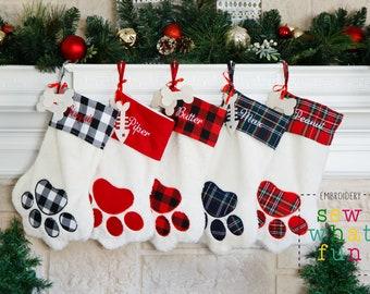 PERSONALIZED Christmas stocking, Pet stocking, dog stocking, cat stocking, Buffalo Plaid, Stocking,Christmas stocking,personalized,Stockings