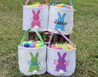 Easter basket, Personalized Easter Basket, monogram easter basket, girls basket, boys basket, girls easter basket, embroidered, bunny
