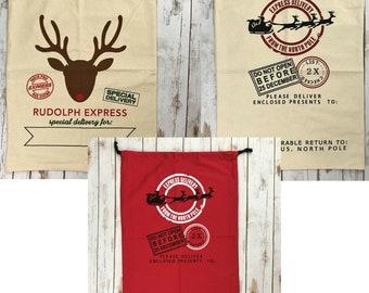 BLANK Santa Sack, canvas santa sack, santa sack, christmas bag, santa bag, canvas bag, canvas santa bag, santa, bag, wholesale, blank