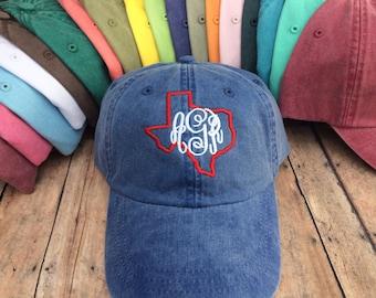 Texas Monogrammed Baseball Hat 7b44dfcb23
