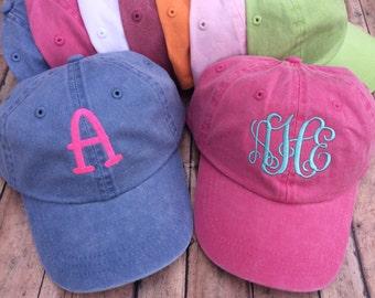 Monogrammed Youth Hat, Kids Hat, Kids monogram hat, monogram hat, personalized hat, youth hat, kids hat, childs monogram hat, child hat,