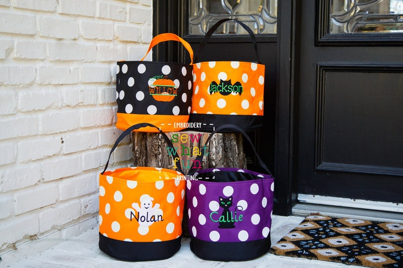 Trick or treat bag Trick-or-treat bucket  Halloween Bucket image 1
