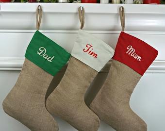 Christmas stocking, personalized Burlap Stocking, burlap Stocking, monogram stocking, Burlap stockings, Stockings, personalized, monogram