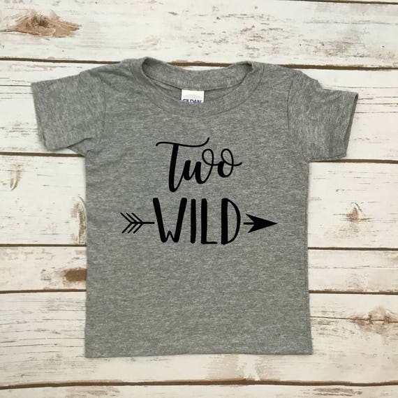 Two Wild Shirt 2nd Birthday T Boys Girls