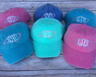 North Carolina Monogrammed Hat, Womens hat, monogrammed hat, monogram hat, monogrammed cap, baseball cap, North Caronlina hat