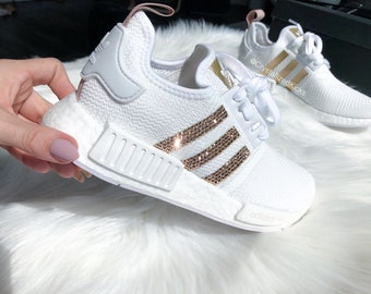 19b15a0c994d3 ... discount code for white rose gold adidas nmd r1 runner made with  swarovski xirius rose crystals