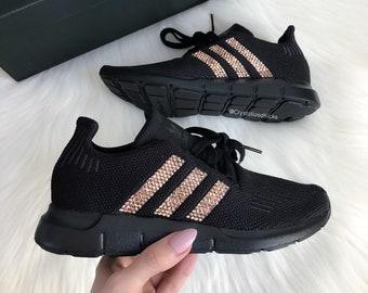 1ee5f648e Swarovski Adidas Swift Run Casual Shoes Made with Swarovski Crystals -  Black Black