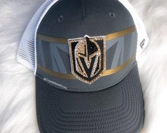 059a41e7fc3 Bling Swarovski Vegas Golden Knights Hat Baseball Cap Made with Swarovski  Crystals