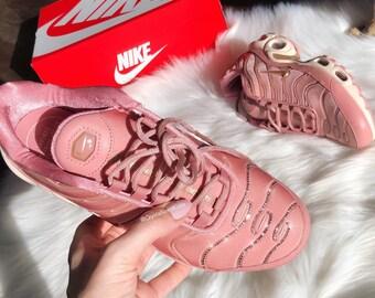 best service c7771 5e924 Swarovski Nike Air Max Plus Women s Made with Swarovski Crystals - Rust Pink
