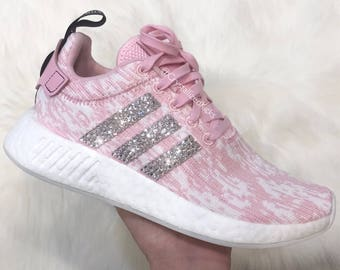90b3e52af ... official adidas nmd runner r2 pink made with swarovski xirius rose  crystals white pink icy pink