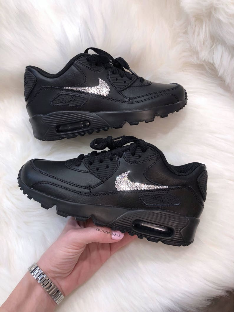 reputable site ace50 4ae53 Swarovski Nike Air Max 90 Shoes Made with SWAROVSKI® Crystals   Etsy