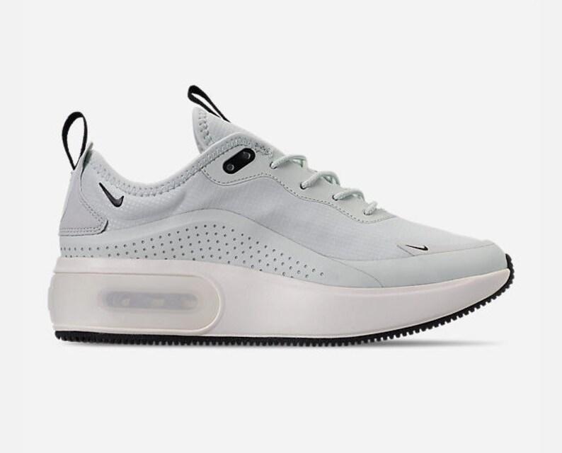 Swarovski Bling Womens Nike Air Max Dia Made with Swarovski Crystals Barely Grey