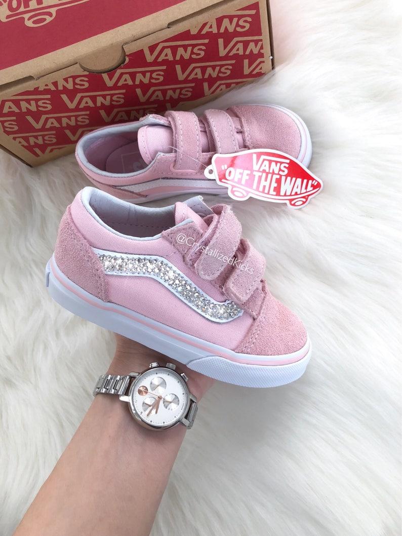 Girls TODDLER Vans Made with SWAROVSKI® Crystals Blush  6b68a438c6