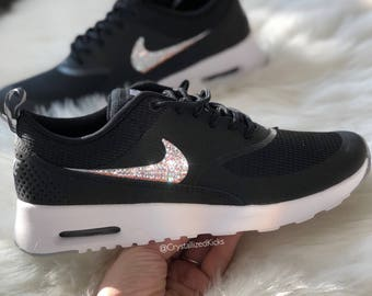limited nike air max thea se with swarovski crystals metallic rose