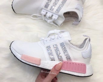 07decdb30 NEW Adidas NMD R1 Runner Made with SWAROVSKI® Xirius Rose Crystals - Grey Blush  Pink White