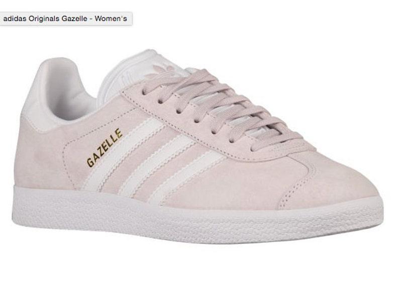meilleur service 9d694 ed643 Adidas Original GAZELLE Made with SWAROVSKI® Xirius Rose Crystals -  Blush/White
