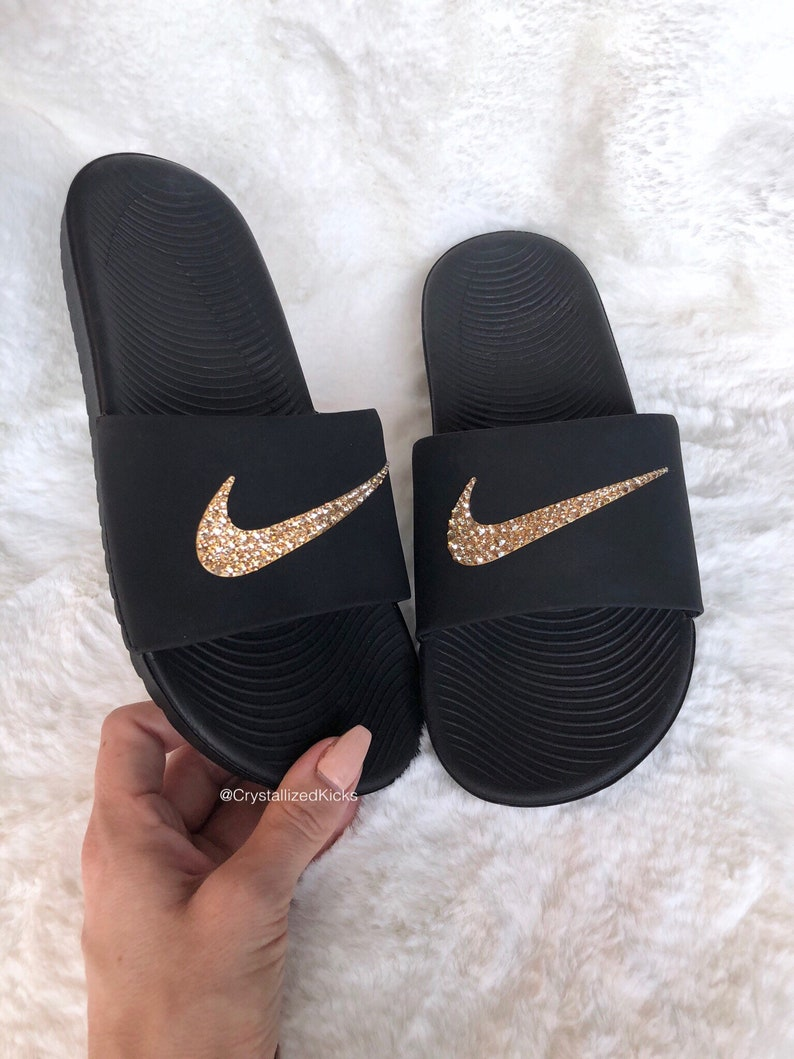 c801c539e5367 Swarovski Nike KAWA Slides Women Made with SWAROVSKI® Crystals