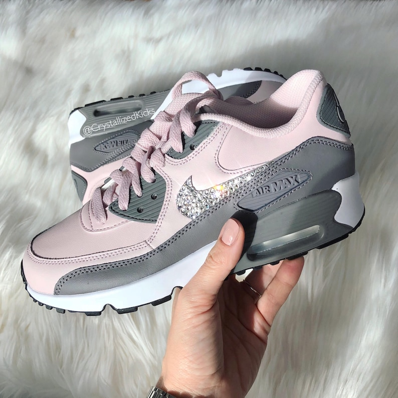 meet 9b0b7 4ab70 Swarovski bling Nike Air Max 90 Sneakers Made with SWAROVSKI®   Etsy