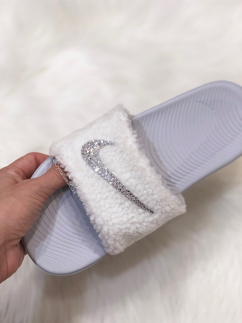 eb04de68e0cf7 Swarovski Nike KAWA Slides Made with SWAROVSKI® Crystals