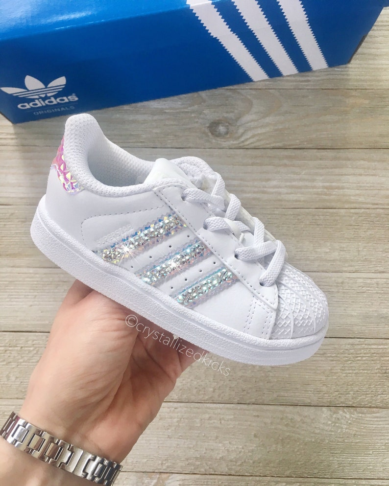 buy popular 4ec14 22bea Swarovski Pre school Adidas Original Superstar Made with   Etsy