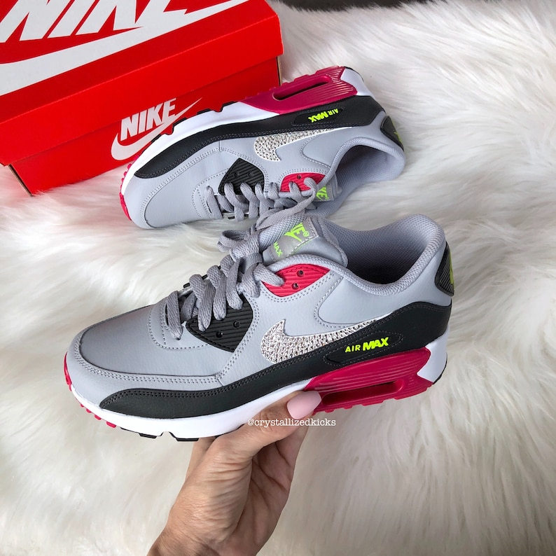 new styles 27596 5892f Swarovski bling Women girls Nike Air Max 90 Sneakers Made with   Etsy