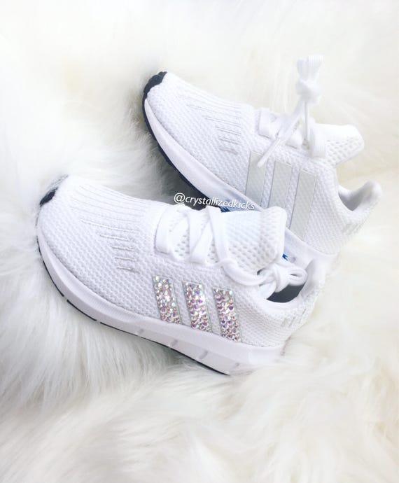 detailed look e4b16 b25a3 TODDLER Adidas Swift Run Made with SWAROVSKI® Xirius Rose  E