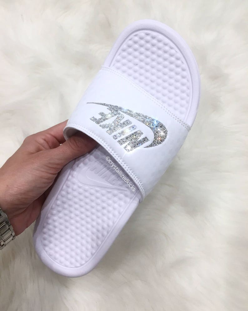 62ed1fd6ba97 Women s Nike Benassi Slides Made with SWAROVSKI® Crystals