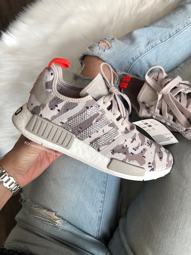 f1c5a05f7533d Swarovski Bling Adidas NMD R1 Women s Made with Swarovski