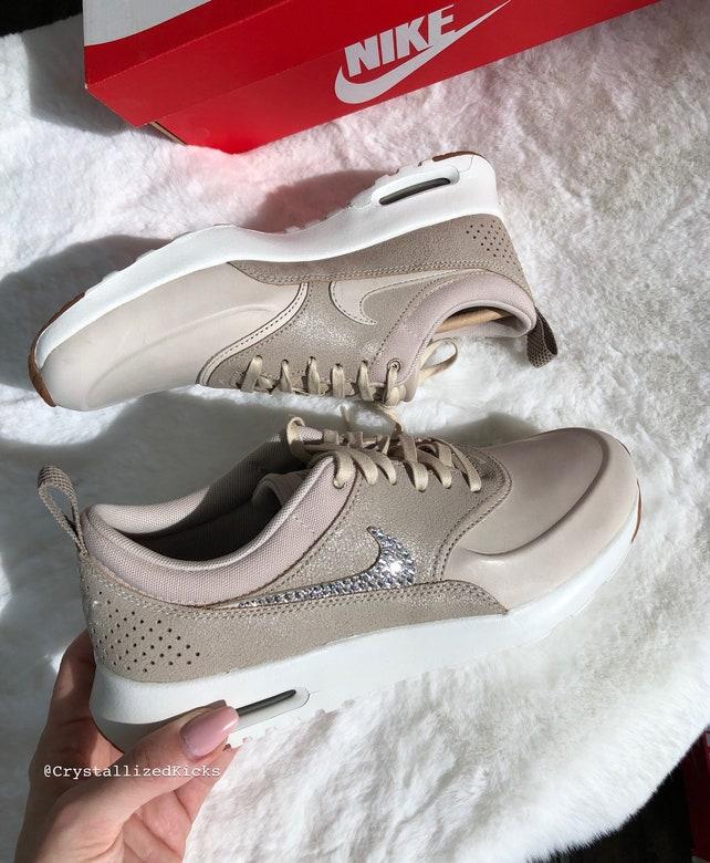 Nike Air Max Crystals Thea Premium w/ SWAROVSKI   Crystals Max  SWAROVSKI Etsy 7a939b