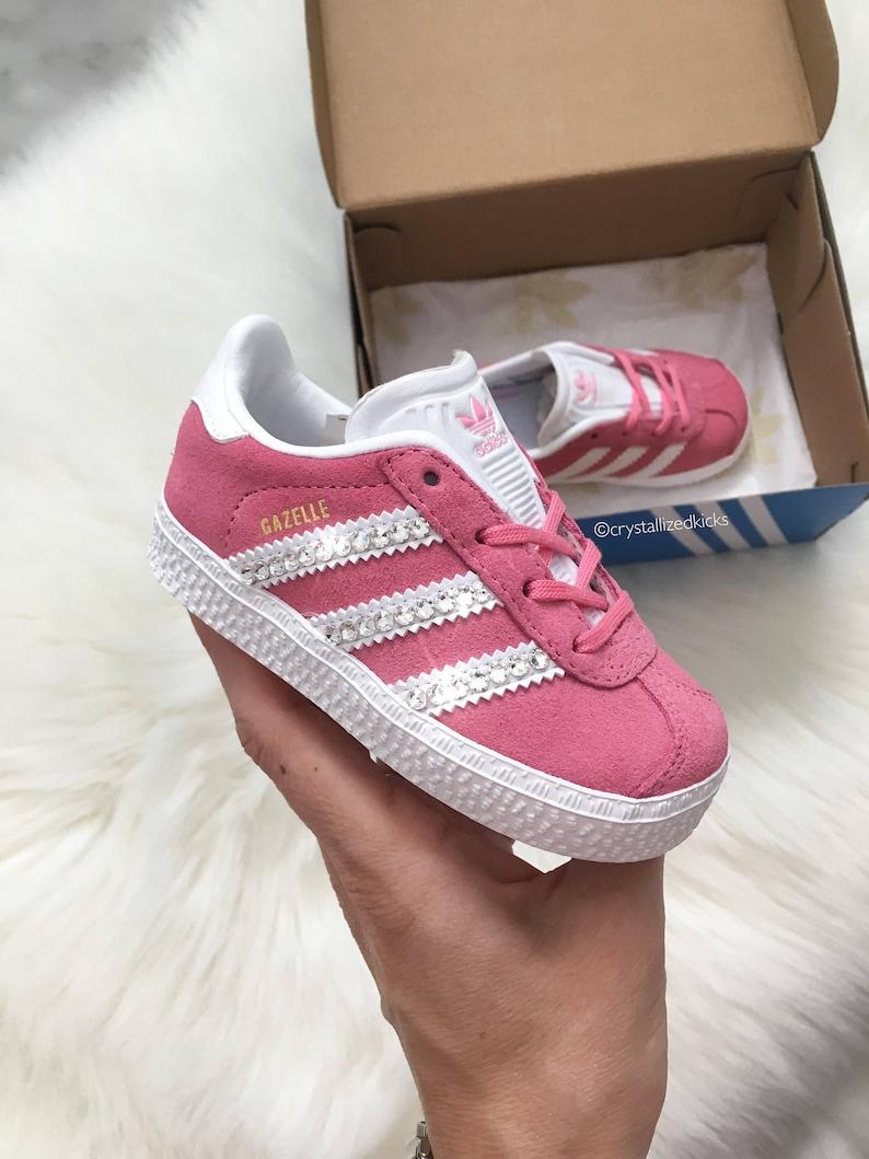 online retailer aae89 3638a SIZE 5C Toddler Adidas Gazelle Made with SWAROVSKI® Xirius