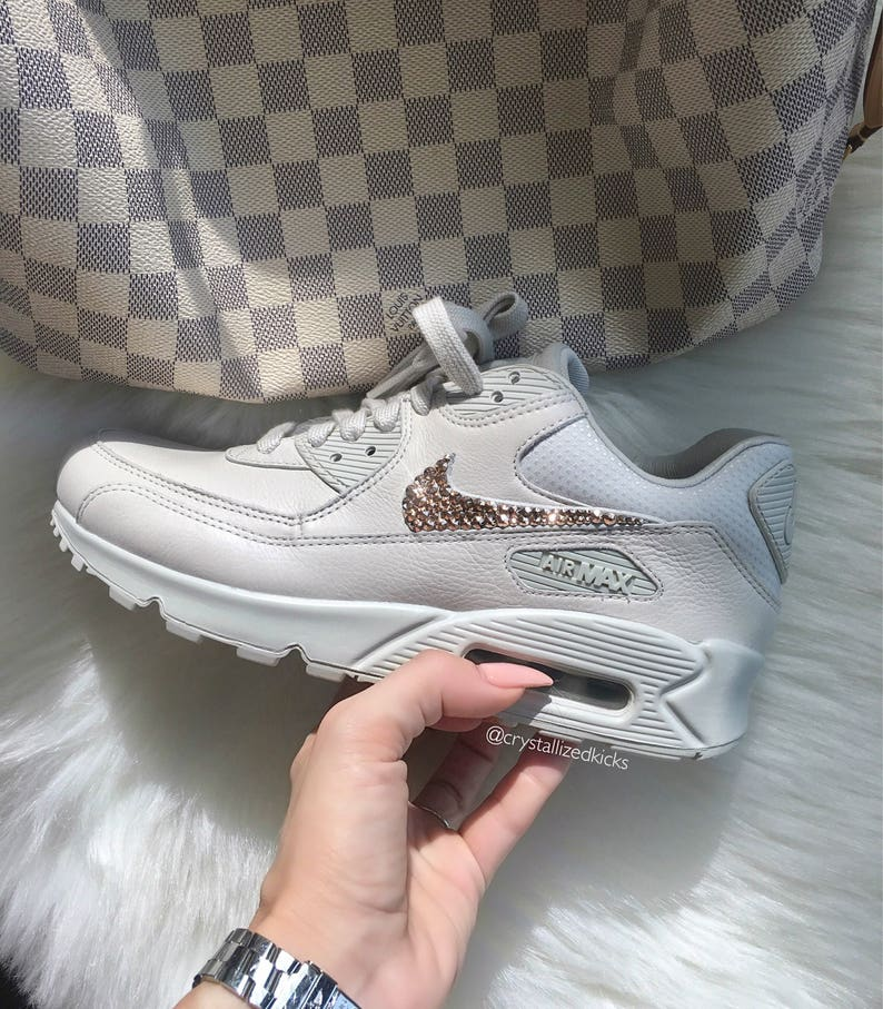 big sale 0ee19 a5dc0 Size 7.5 LIMITED NIKELAB Air Max 90 Made with SWAROVSKI® Crystals -  Venice/Venice/Violet Ash