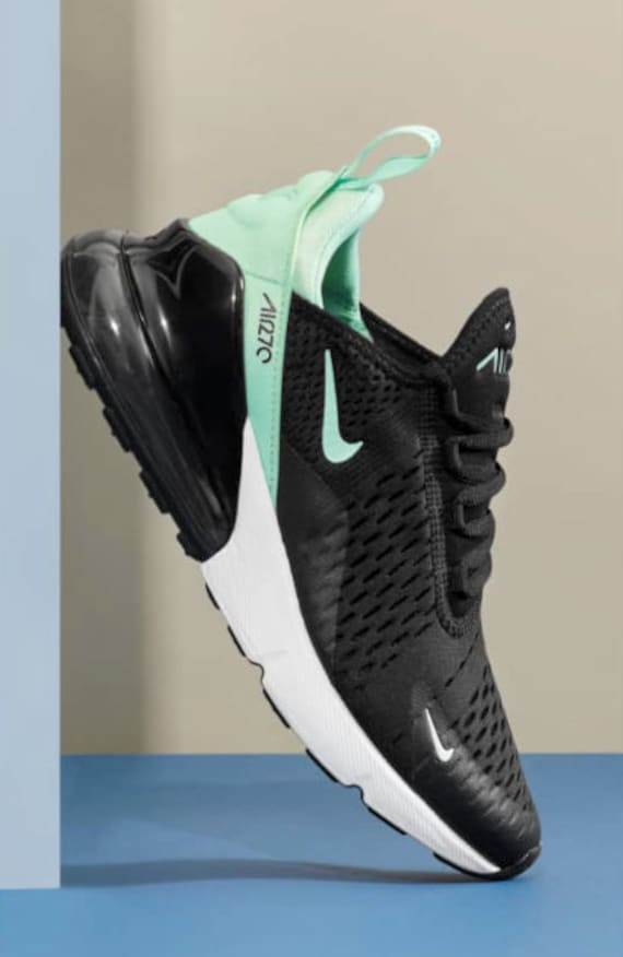 outlet store 4966b 20786 Swarovski Women's Nike Air Max 270 Women Made with Swarovski Crystals -  Black/White/Mint