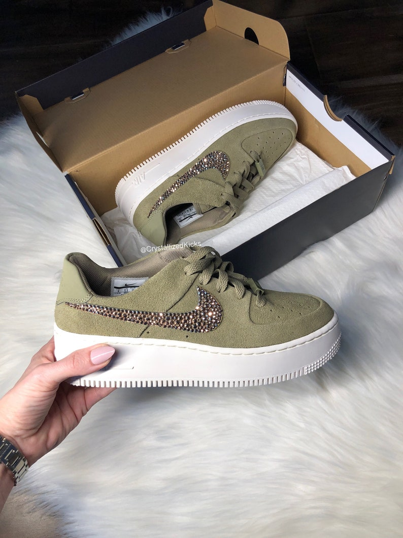 Swarovski Nike Air Force 1 Sage Low Women Casual Sneakers Made  15719e650