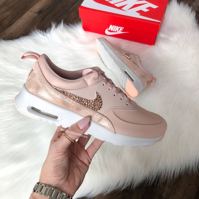 huge selection of 3845e 0756b Nike Air Max Thea Premium w  SWAROVSKI® Crystals Particle   Etsy