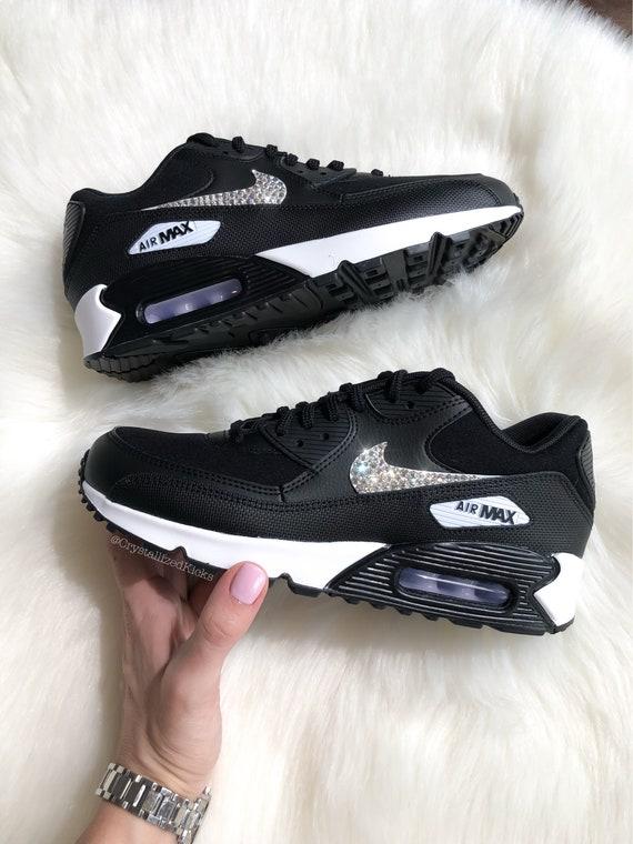 Swarovski aus mit Air 90 Nike Frauen Kristallen Max schwarzweiß SWAROVSKI® D2WEH9IY