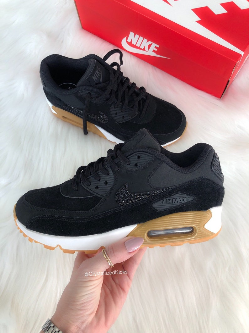 outlet store cabf6 1a67c Swarovski Nike Air Max 90 Women's Black/White Made with SWAROVSKI® Crystals