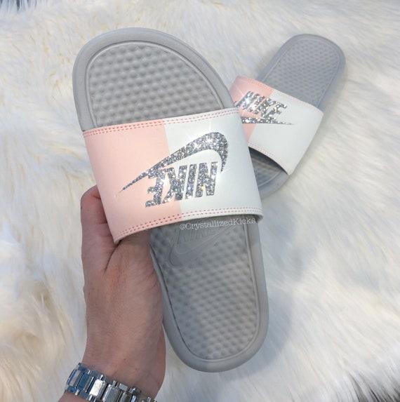Swarovski Nike Benassi Slides Made with SWAROVSKI® Crystals  f62edd58ef60