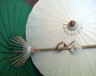 """Waterproof Cotton Canvas Parasols 28"""" canopy & bamboo pole -  NEW COLORS AVAILABLE!"""