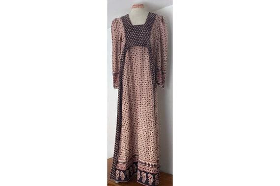 Indian Cotton 70s Long Prairie Dress - image 1