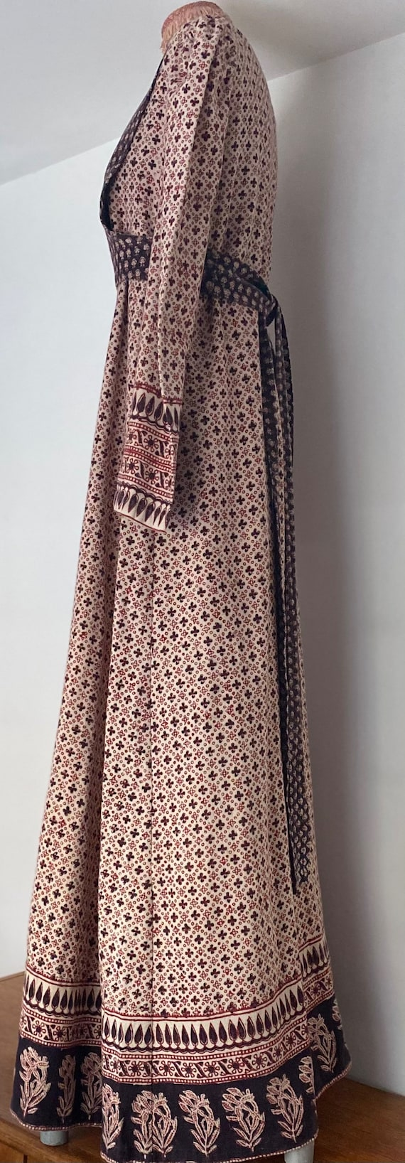 Indian Cotton 70s Long Prairie Dress - image 4