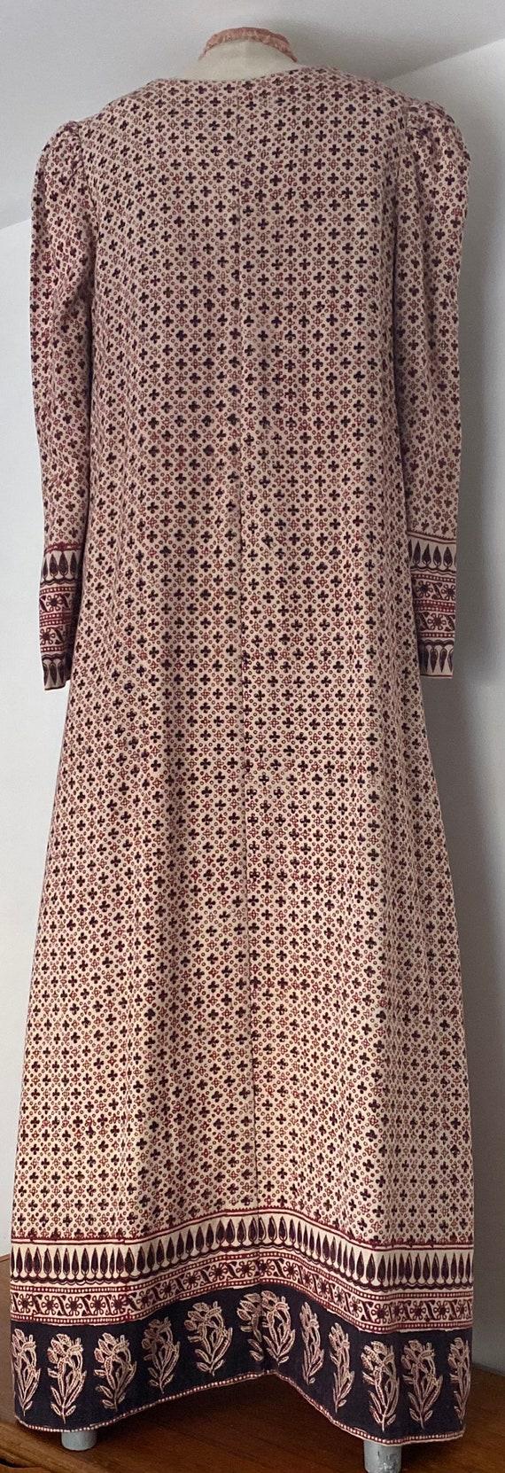 Indian Cotton 70s Long Prairie Dress - image 9