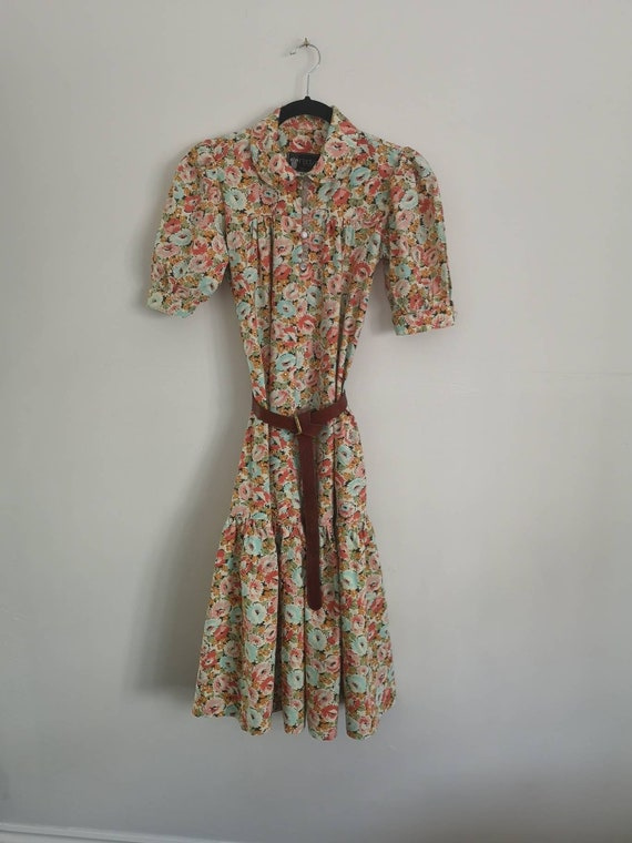70s Floral Cotton Dress by Radley
