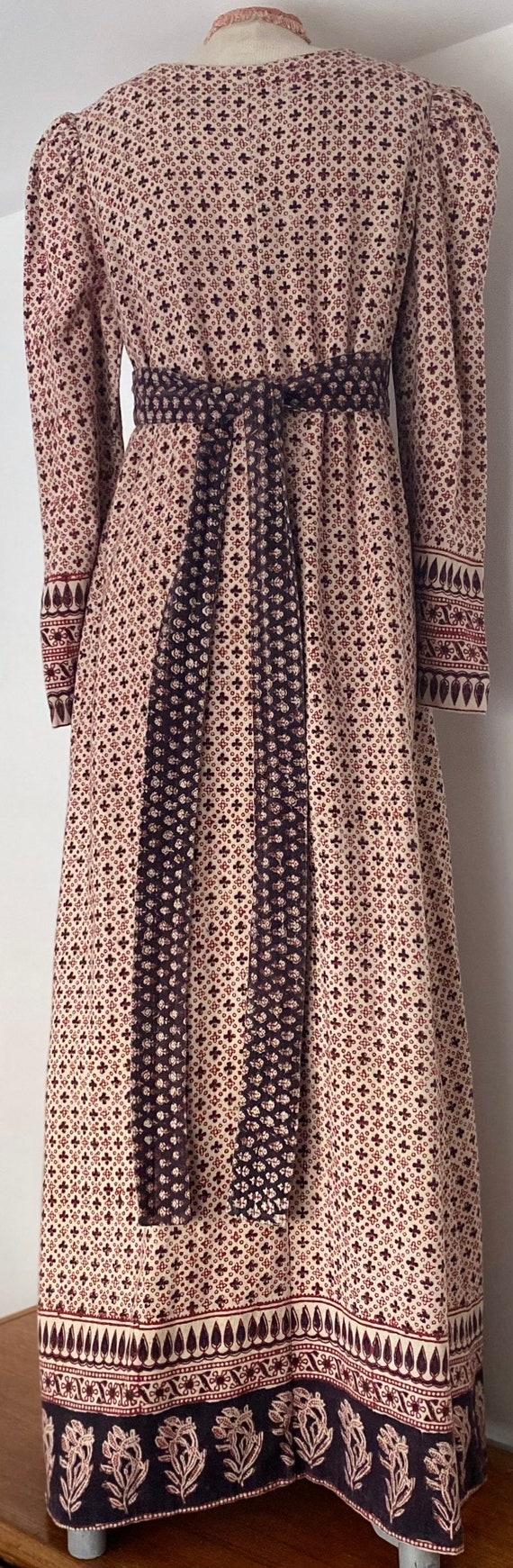 Indian Cotton 70s Long Prairie Dress - image 5