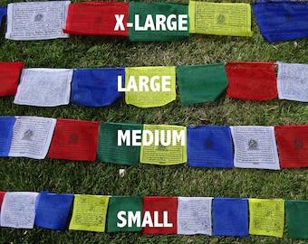 25 Tibetan Buddhist Prayer Flags Poly SMALL