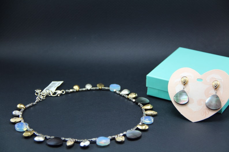 Brighton new wave necklace and earring set