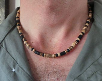 Wood Bead Necklace Etsy